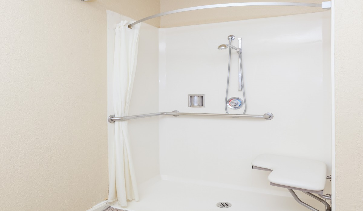Some Handicap rooms feature roll-in showers