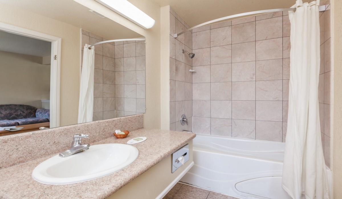 Granite Vanity in Private Bathroom